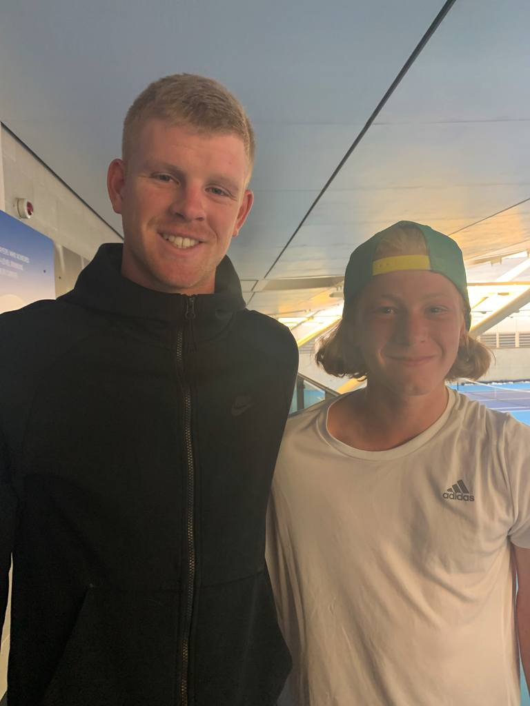 Kyle Edmund and Heath Paul